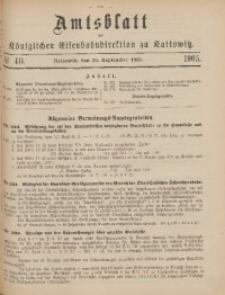 Amtsblatt der Königlichen Eisenbahndirektion zu Kattowitz, 1905, nr40