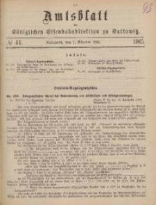 Amtsblatt der Königlichen Eisenbahndirektion zu Kattowitz, 1905, nr41