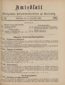 Amtsblatt der Königlichen Eisenbahndirektion zu Kattowitz, 1905, nr48