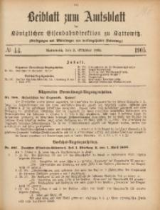 Beiblatt zum Amtsblatt der Königlischen Eisenbahndirektion zu Kattowitz, 1905, nr44