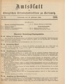 Amtsblatt der Königlichen Eisenbahndirektion zu Kattowitz, 1906, nr8