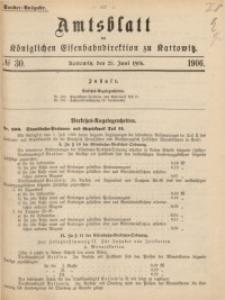 Amtsblatt der Königlichen Eisenbahndirektion zu Kattowitz, 1906, nr30