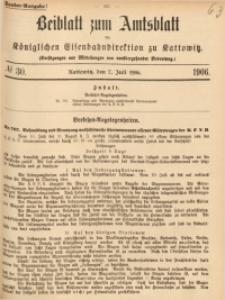 Beiblatt zum Amtsblatt der Königlischen Eisenbahndirektion zu Kattowitz, 1906, nr30