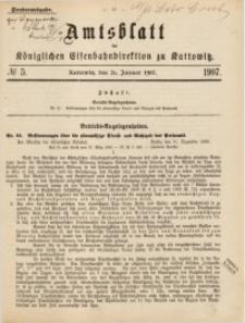 Amtsblatt der Königlichen Eisenbahndirektion zu Kattowitz, 1907, nr5