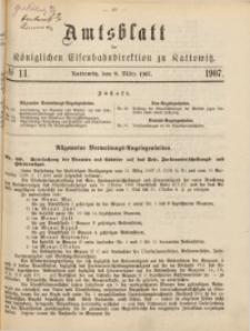 Amtsblatt der Königlichen Eisenbahndirektion zu Kattowitz, 1907, nr11
