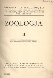 Poradnik dla samouków. T. 10. Zoologja cz. 2. Wskazówki metodyczne dla studjujących. - Wyd. nowe