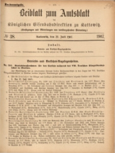 Beiblatt zum Amtsblatt der Königlischen Eisenbahndirektion zu Kattowitz, 1907, nr38