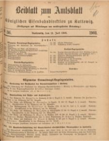 Beiblatt zum Amtsblatt der Königlischen Eisenbahndirektion zu Kattowitz, 1908, nr36