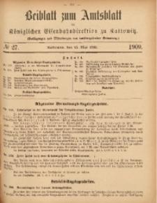 Beiblatt zum Amtsblatt der Königlischen Eisenbahndirektion zu Kattowitz, 1909, nr27