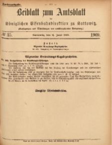 Beiblatt zum Amtsblatt der Königlischen Eisenbahndirektion zu Kattowitz, 1909, nr35