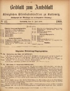 Beiblatt zum Amtsblatt der Königlischen Eisenbahndirektion zu Kattowitz, 1909, nr42