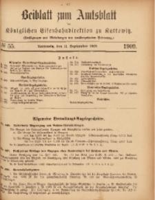 Beiblatt zum Amtsblatt der Königlischen Eisenbahndirektion zu Kattowitz, 1909, nr55