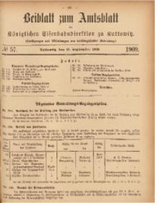 Beiblatt zum Amtsblatt der Königlischen Eisenbahndirektion zu Kattowitz, 1909, nr57