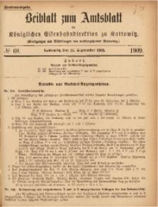 Beiblatt zum Amtsblatt der Königlischen Eisenbahndirektion zu Kattowitz, 1909, nr60