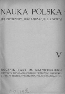 Nauka Polska, 1925, R. 5