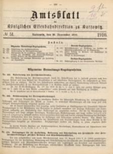 Amtsblatt der Königlichen Eisenbahndirektion zu Kattowitz, 1910, nr51