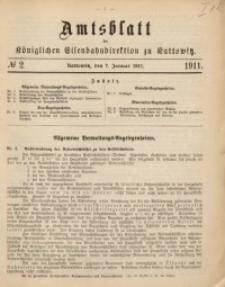 Amtsblatt der Königlichen Eisenbahndirektion zu Kattowitz, 1911, nr2