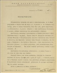 List Tadeusza Regera do Englischa w Krakowie w sprawie przyjazdu w dniu 20.05.1922 r. do Cieszyna na konferencję w sprawie majątku w Bystrej, oraz telegram Englischa informujący, że nie przyjedzie