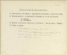 Notatki z posiedzenia Zarządu - ustalenie dochodów sanatorium w Bystrej