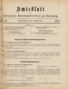 Amtsblatt der Königlichen Eisenbahndirektion zu Kattowitz, 1911, nr37