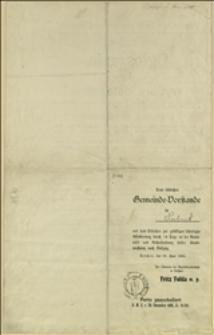 Ogłoszenie o wyborach delegatów do Powiatowej Kasy Chorych w Cieszynie w dniu 05.07.1908 r. - Cieszyn, 20.06.1908 r.