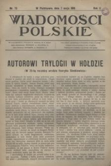 Wiadomości Polskie, 1916, R. 2, nr 75