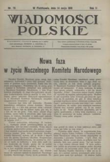 Wiadomości Polskie, 1916, R. 2, nr 76