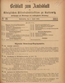 Beiblatt zum Amtsblatt der Königlischen Eisenbahndirektion zu Kattowitz, 1912, nr29