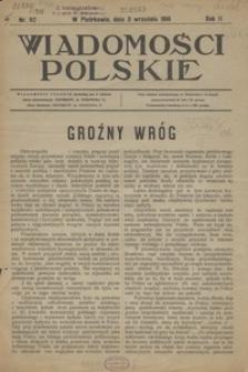 Wiadomości Polskie, 1916, R. 2, nr 92