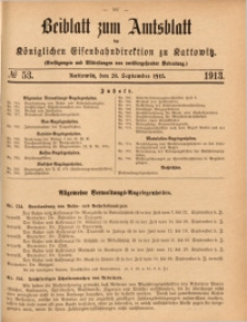 Beiblatt zum Amtsblatt der Königlischen Eisenbahndirektion zu Kattowitz, 1913, nr53