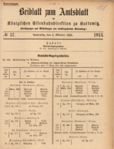Beiblatt zum Amtsblatt der Königlischen Eisenbahndirektion zu Kattowitz, 1913, nr57