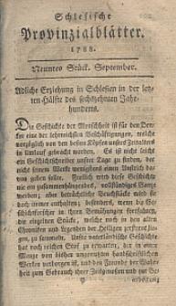 Schlesische Provinzialblätter, 1788, 8. Bd., 9. St.: September
