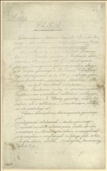 Pismo okólne c.k. Urzędu Górniczego w Krakowie z dnia 28 października 1896 roku o utworzeniu we wszystkich kopalniach mu podlegających stowarzyszenia górniczego