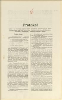 Protokół zwyczajnego walnego zgromadzenia delegatów Grupy II Stowarzysznia Kopalń Morawsko-Ostrawskiego Okręgu Górniczego odbywającego się 14 kwietnia 1912 roku w Orłowej