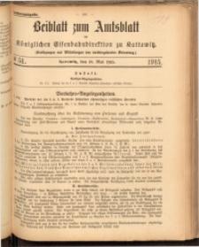 Beiblatt zum Amtsblatt der Königlischen Eisenbahndirektion zu Kattowitz, 1915, nr51