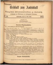 Beiblatt zum Amtsblatt der Königlischen Eisenbahndirektion zu Kattowitz, 1915, nr56
