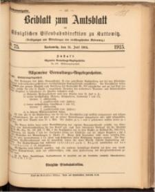 Beiblatt zum Amtsblatt der Königlischen Eisenbahndirektion zu Kattowitz, 1915, nr75