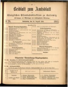 Beiblatt zum Amtsblatt der Königlischen Eisenbahndirektion zu Kattowitz, 1915, nr78