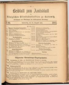 Beiblatt zum Amtsblatt der Königlischen Eisenbahndirektion zu Kattowitz, 1915, nr80