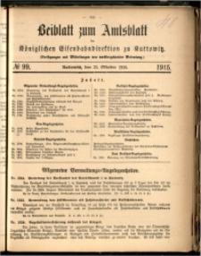 Beiblatt zum Amtsblatt der Königlischen Eisenbahndirektion zu Kattowitz, 1915, nr99