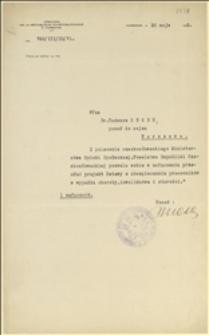 Pismo Ambasady Czechosłowackiej w Warszawie do Tadeusza Regera w związku z przesłaniem czechosłowackich dzienników urzędowych - Warszawa, 30.05.1923 r.