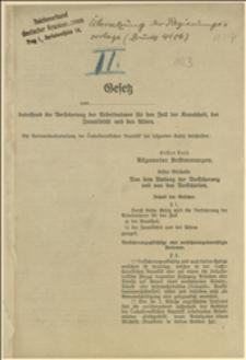 Tłumaczenie wniosku rządowego - druk 4186. - do parlamentu czechosłowackiego, 1923 r.