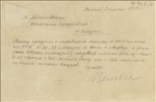 Dwie karty pocztowe i odcinek pocztowy dotyczący prenumeraty