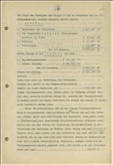 Zestawienie finansowe i opis stanu majątkowego budowy sanatorium