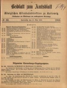 Beiblatt zum Amtsblatt der Königlischen Eisenbahndirektion zu Kattowitz, 1916, nr50
