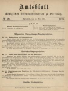 Amtsblatt der Königlichen Eisenbahndirektion zu Kattowitz, 1917, nr28