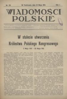 Wiadomości Polskie, 1915, R. 1, nr 29