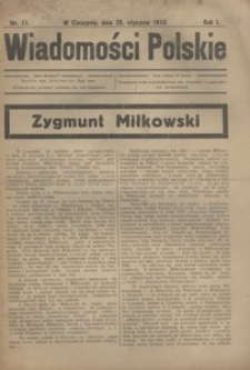 Wiadomości Polskie, 1915, R. 1, nr 11