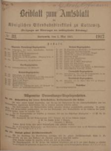 Beiblatt zum Amtsblatt der Königlischen Eisenbahndirektion zu Kattowitz, 1917, nr32