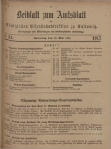 Beiblatt zum Amtsblatt der Königlischen Eisenbahndirektion zu Kattowitz, 1917, nr34
